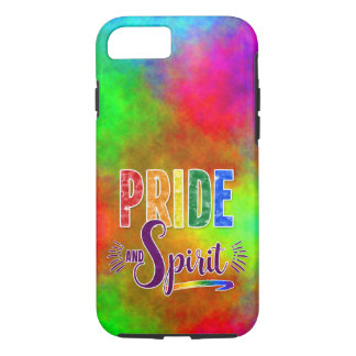Bright and Bold Rainbow Pride and Spirit Word Art iPhone 7 Case
