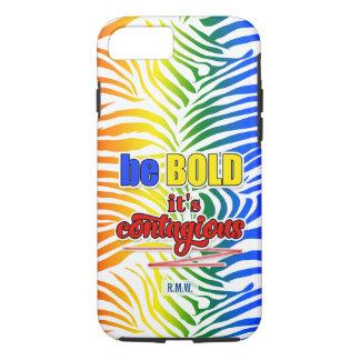 Bright and Bold Rainbow Zebra Print iPhone 7 Case