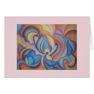 Bright and bold whimsical abstract art notecard