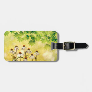 Bright and cheerful white echinacea flowers luggage tag