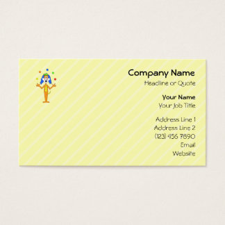 Bright and Colorful Cartoon Dog Juggling. Business Card