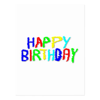 Bright and Colorful. Happy Birthday. Postcard
