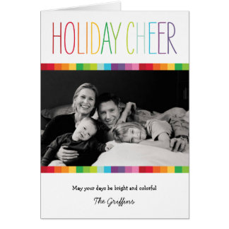 Bright and Colorful Holiday Photo Card