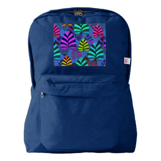 Bright and Colorful Leaf Pattern 767 Backpack