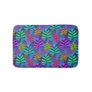 Bright and Colorful Leaf Pattern 767 Bathroom Mat