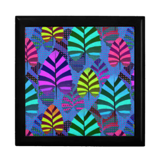 Bright and Colorful Leaf Pattern 767 Gift Box