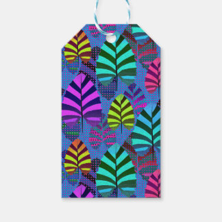 Bright and Colorful Leaf Pattern 767 Pack Of Gift Tags