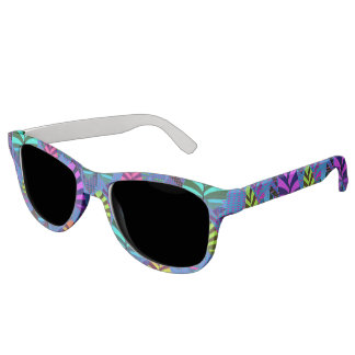 Bright and Colorful Leaf Pattern 767 Sunglasses