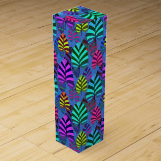 Bright and Colorful Leaf Pattern 767 Wine Gift Box