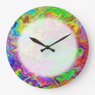 Bright and Colorful Multi Pattern. Large Clock