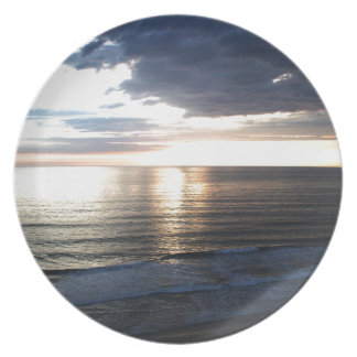 Bright and Colorful Sunset Plate