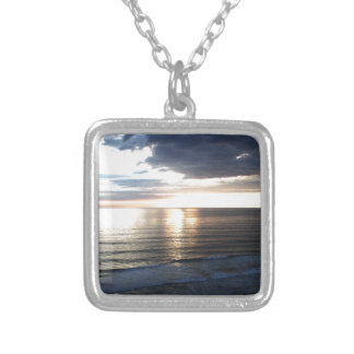 Bright and Colorful Sunset Silver Plated Necklace