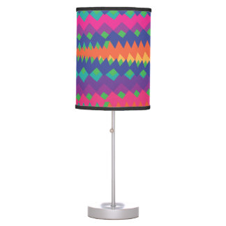 Bright and Colorful Tribal ZigZag Abstract Table Lamps