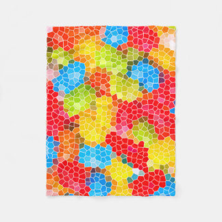 Bright and Colorful Unique Abstract Pattern Fleece Blanket