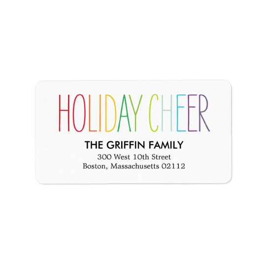 Bright and Colourful Address Labels