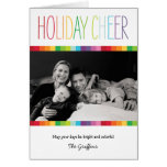 Bright and Colourful Holiday Photo Card