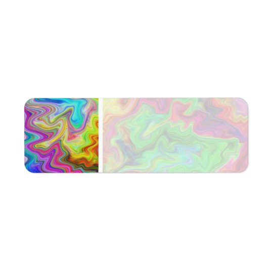 Bright and Colourful Multi Pattern. Return Address Label