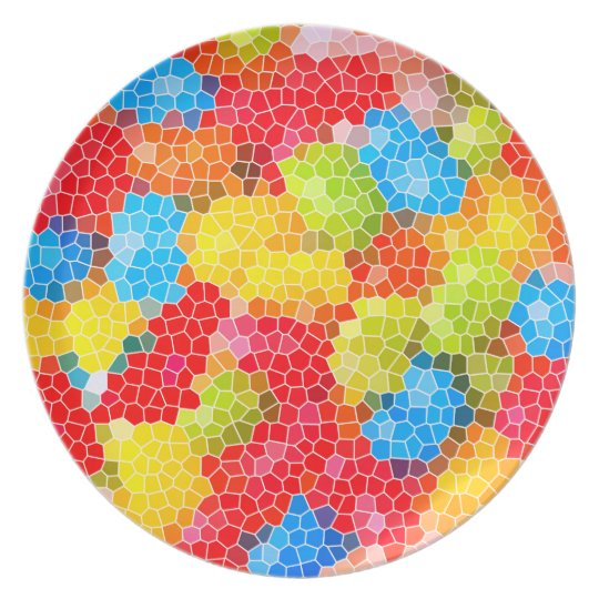 Bright and Colourful Unique Abstract Pattern Plate