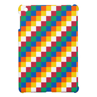 Bright and Distinctive Squares Pattern Cover For The iPad Mini