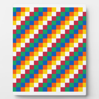 Bright and Distinctive Squares Pattern Plaque