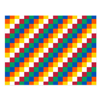Bright and Distinctive Squares Pattern Postcard