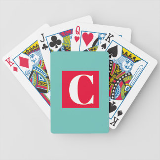 Bright and Elegant Alphabet Monogram Bicycle Playing Cards