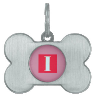 Bright and Elegant Alphabet Monogram Pet Name Tag