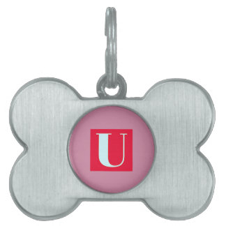 Bright and Elegant Alphabet Monogram Pet Tag