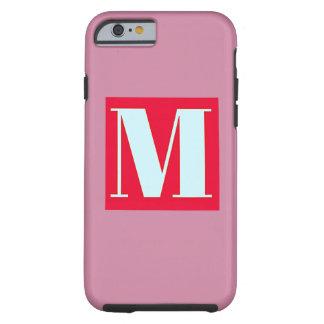 Bright and Elegant Alphabet Monogram Tough iPhone 6 Case