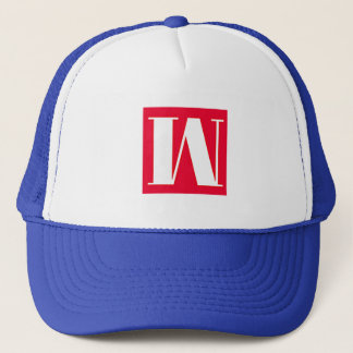 Bright and Elegant Alphabet Monogram Trucker Hat