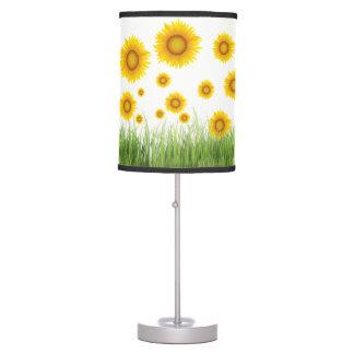 Bright and Elegant Sunflower Graphic Design Table Lamp