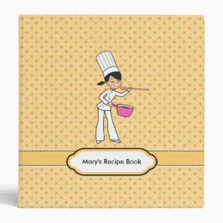 Bright and Fun Recipe Binder Illustrated
