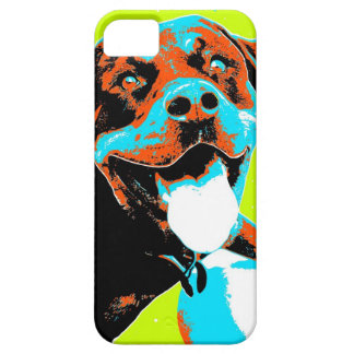 Bright and Fun Rottweiler Portrait iPhone 5 Covers