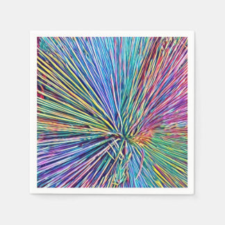 Bright and funky rainbow colors Paper Napkin