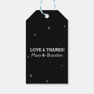 Bright and Starry Universe Nebula Wedding Gift Tags