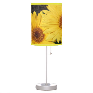 Bright and Sunny Yellow Gerbera Daisies Table Lamps