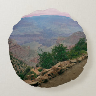 Bright Angel Trail Grand Canyon National Park Round Pillow