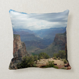 Bright Angel Trail Grand Canyon overlook Throw Pillow
