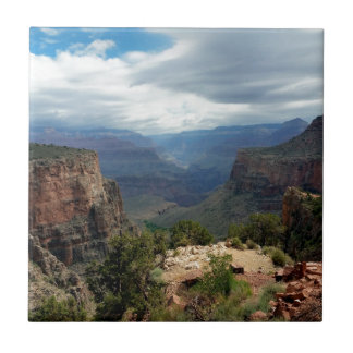 Bright Angel Trail Grand Canyon overlook Tile