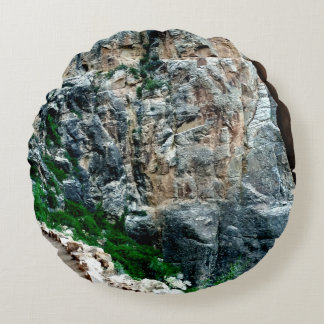 Bright Angel Trail Grand Canyon Round Pillow