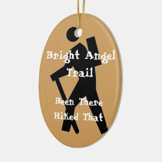 Bright Angel Trail Hiked That Ceramic Oval Ornament