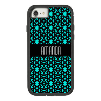 Bright Aqua Blue Star Pattern Case-Mate Tough Extreme iPhone 8/7 Case