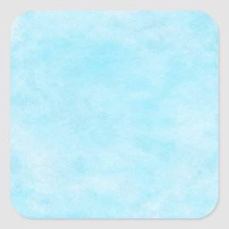 Bright Aqua Blue Teal Watercolor Paper Color Square Sticker