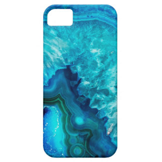 Bright Aqua Blue Turquoise Geode Mineral Stone iPhone 5 Cover