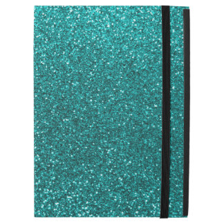 "Bright aqua glitter iPad pro 12.9"" case"