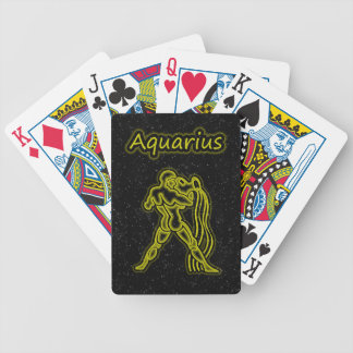 Bright Aquarius Bicycle Playing Cards