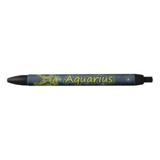 Bright Aquarius Black Ink Pen