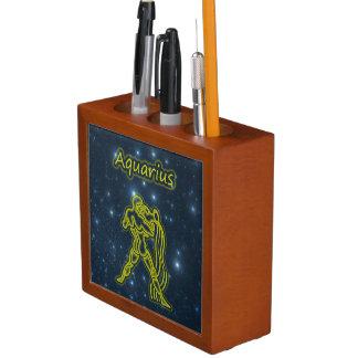 Bright Aquarius Desk Organizer