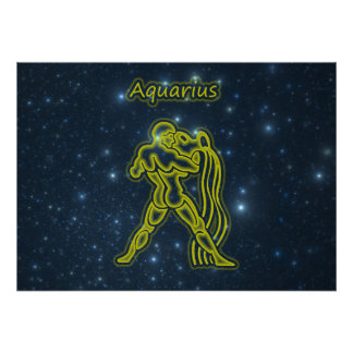 Bright Aquarius Poster