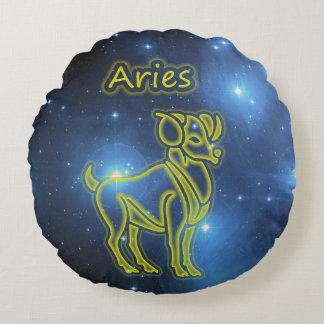 Bright Aries Round Pillow